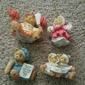 Cherish teddy bear 4ct lot ornaments figurines
